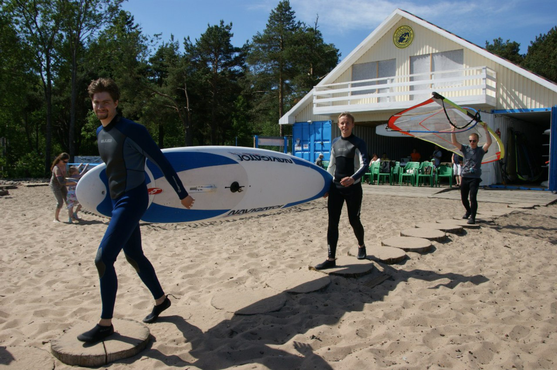 Stand Up Surfing (SUP) в Карелии